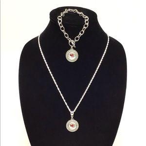 Kansas City Chiefs Necklace & Bracelet Set